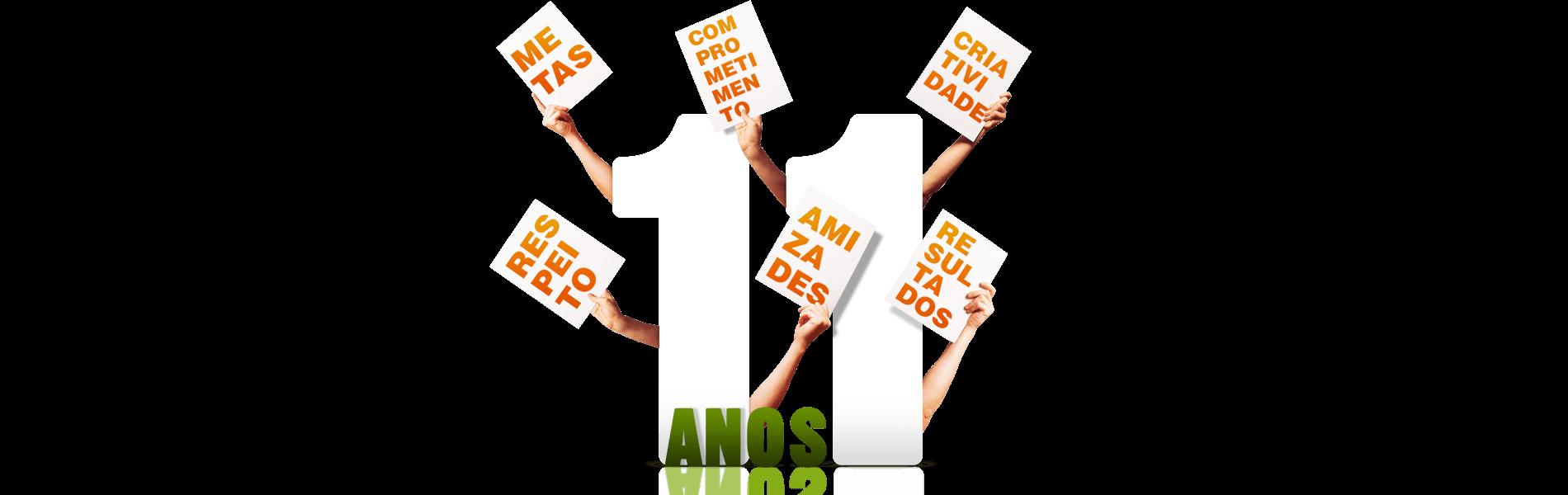 Banner em comemoração aos 11 anos da 5D Publicidade