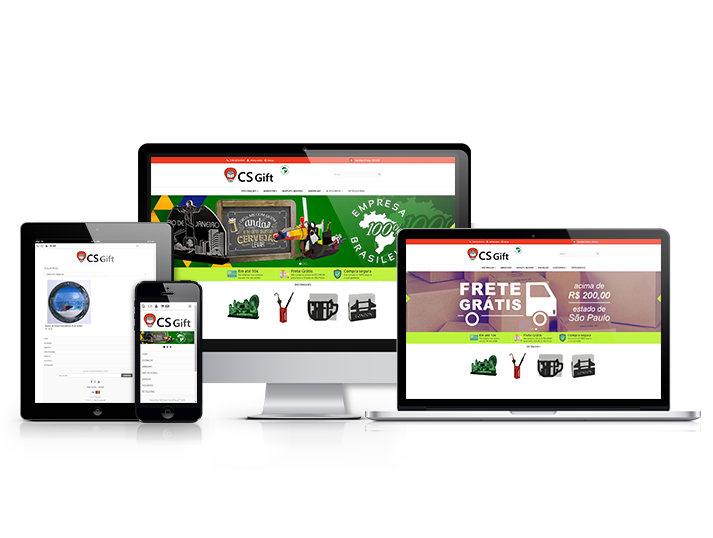 Novo site da CS Gift