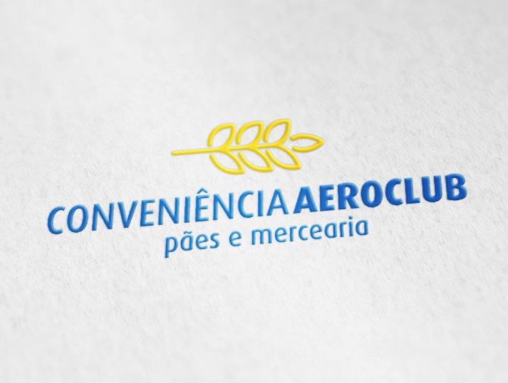 logotipo padaria e loja de conveniência Posto Aeroclube